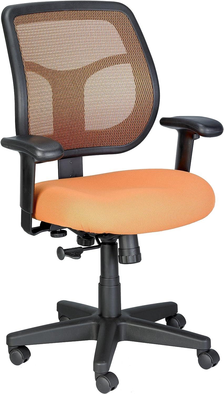 Eurotech Seating Apollo Midback Swivel Chair, Orange