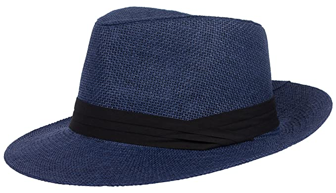 a384335a14b DRY77 Summer Cool Outback Panama Wide Large Brim Fedora Straw Hat Men Women