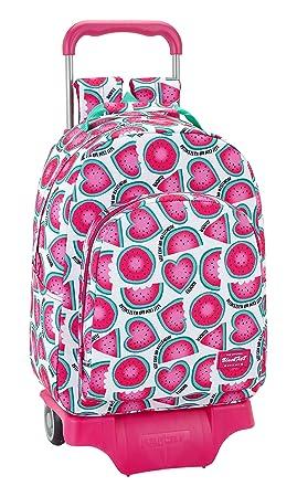 """Safta Mochila Blackfit8 """"Watermelon"""" Oficial Escolar Con Carro Safta 330x150x430mm"""