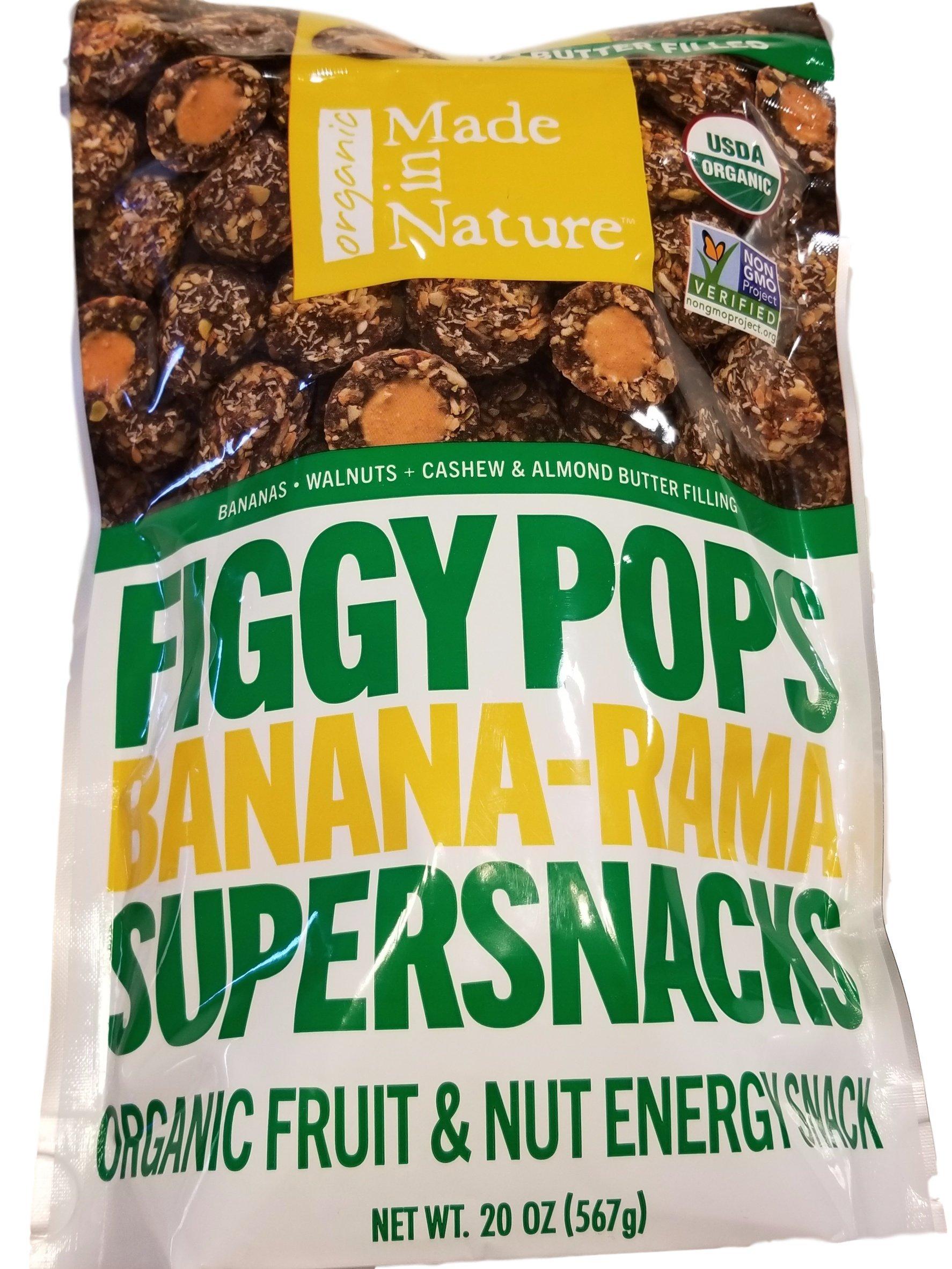 Figgy Pops Banana-Rama Super SNacks- Organic Fruit & Nut Energy Snack