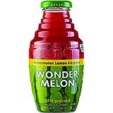 Wonder Melon Organic Watermelon Juice with Lemon & Cayenne, 8.45oz (6 Pack) 100% Juice, Cold Pressed