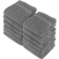 Utopia Towels - 12 luksusowych myjek, 30 x 30 cm, szare - 700 GSM 100% bawełna Najwyższej jakości flanelowe ściereczki…