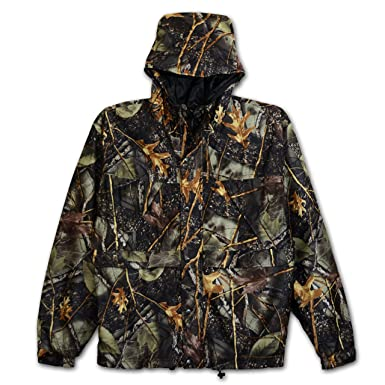 Waterproof Breathable Big Mens Burly Camo Rain Jacket (Burly Camo