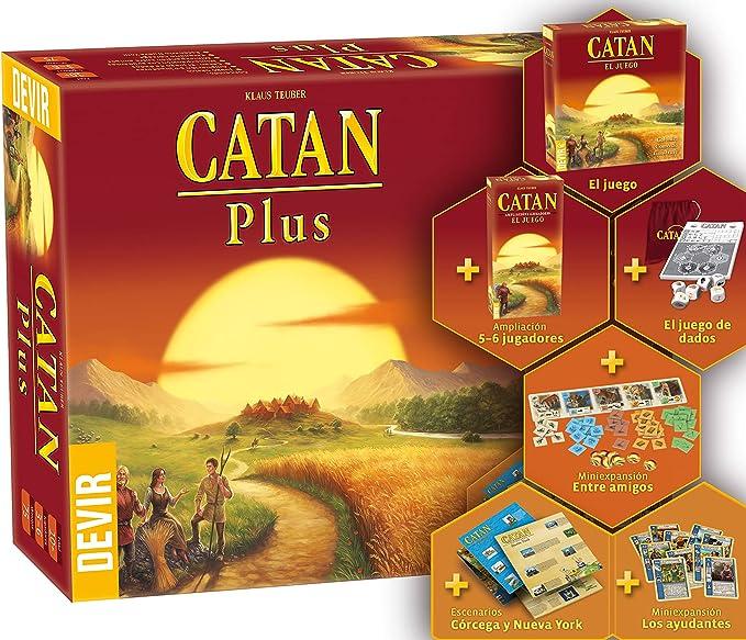 Catan Plus (Devir BGCATANPLUS2): Amazon.es: Juguetes y juegos