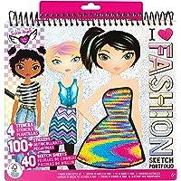 Fashion Angels Fashion Design Sketch Portfolio (11451), Sketch Book for Beginners, Fashion Sketch Pad with Stencils and…