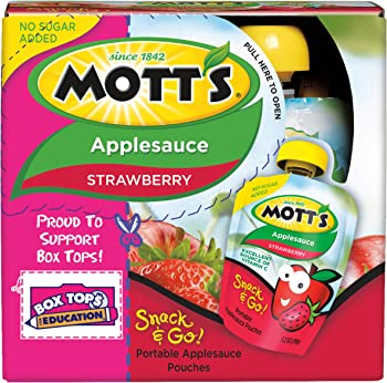 24-Pack Mott's Snack & Go Strawberry Applesauce