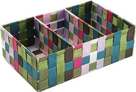 Versa 19485020 Caja 3 Compartiment De Colores, 10x21x32cm, Nylon, Organizador: Amazon.es: Hogar