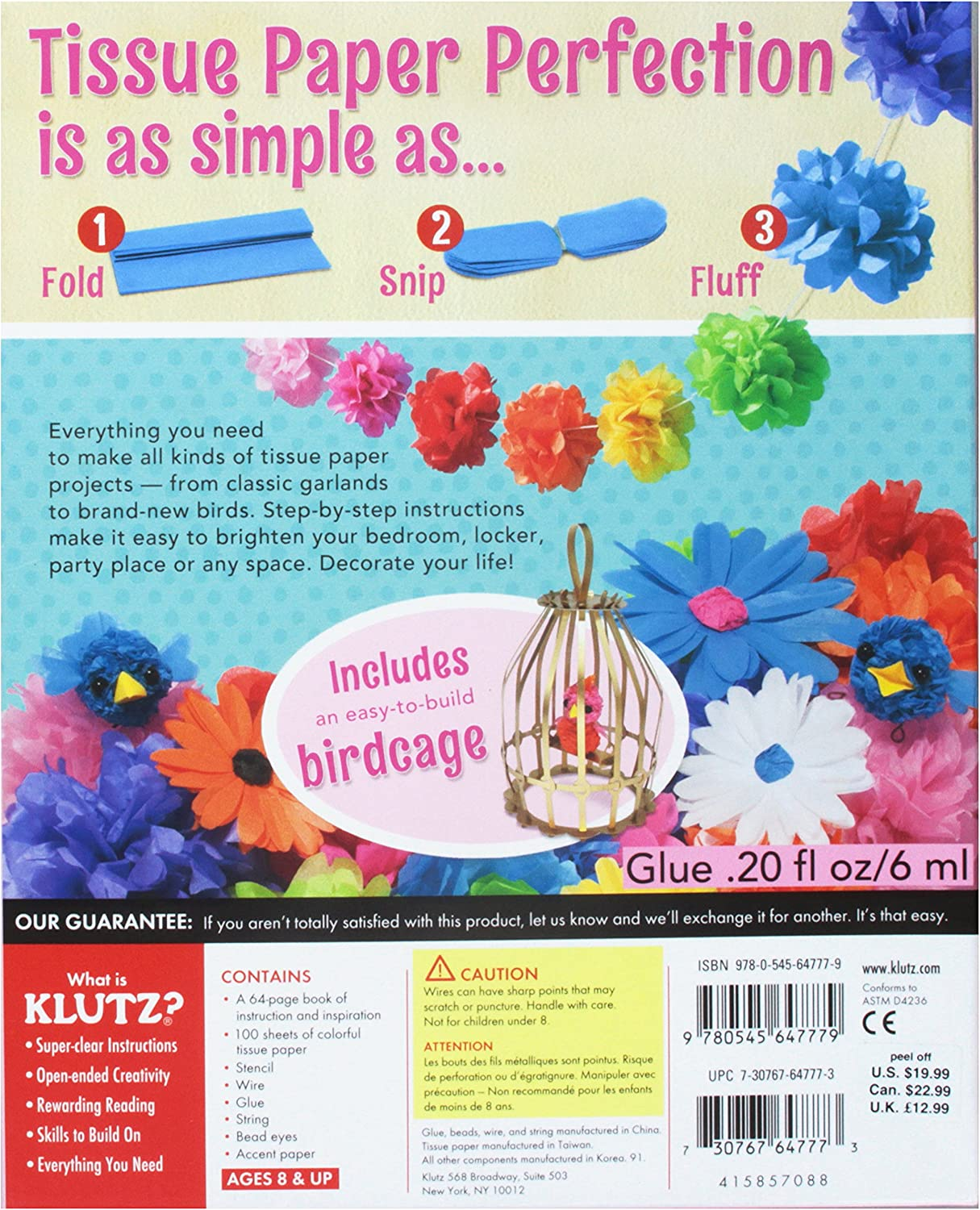 Klutz 564777 Tissue Paper Crafts Book Kit