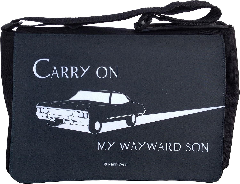 NaniWear Supernatural Carry On My Wayward Son Large Geek Messenger/Laptop Bag