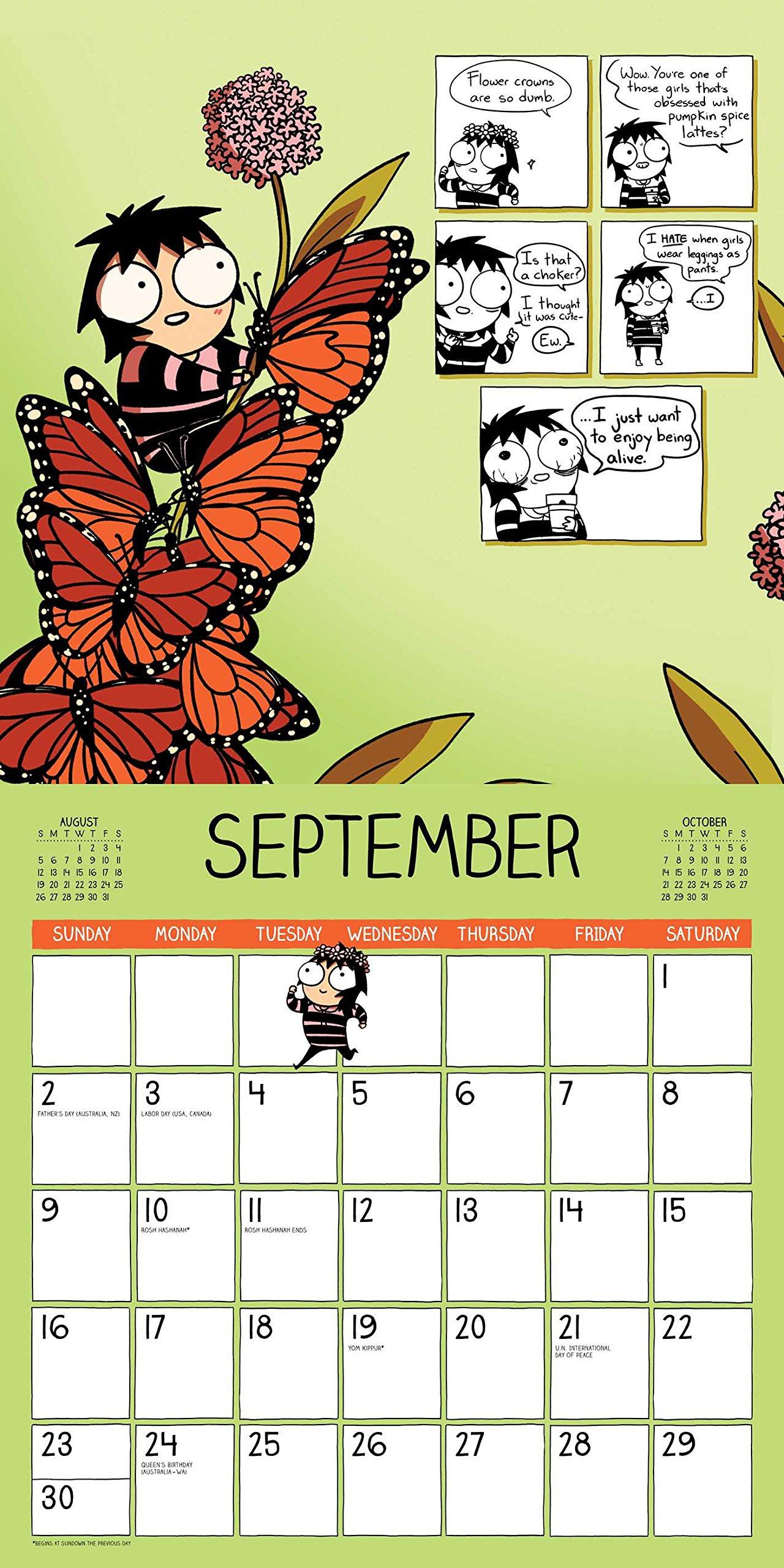 SarahS Scribbles 2018 Wall Calendar: Amazon.es: Sarah ...