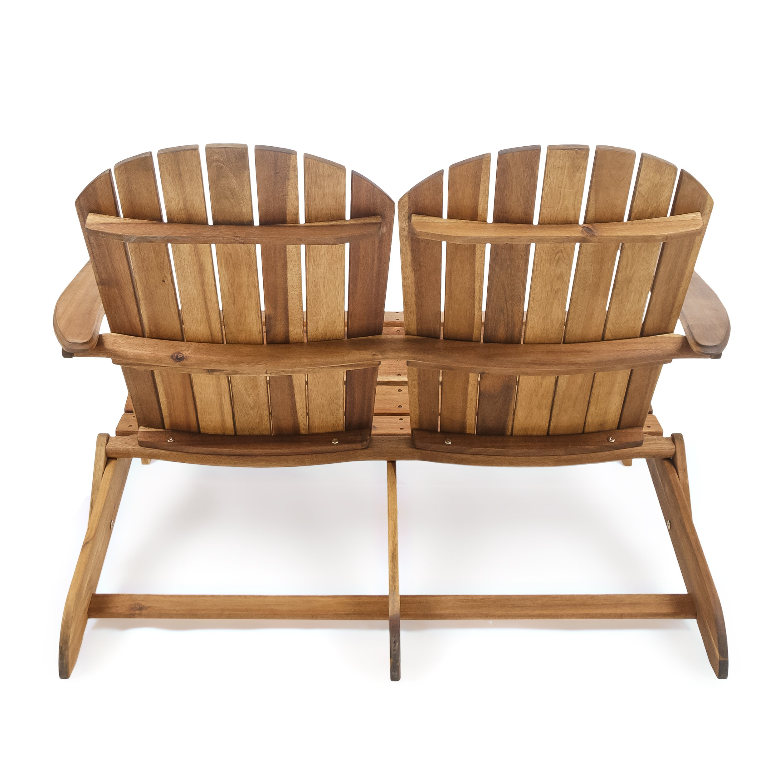 Great Deal Furniture Muriel Outdoor Natural Finish Acacia Wood Adirondack Loveseat by Great Deal Furniture (Image #4)