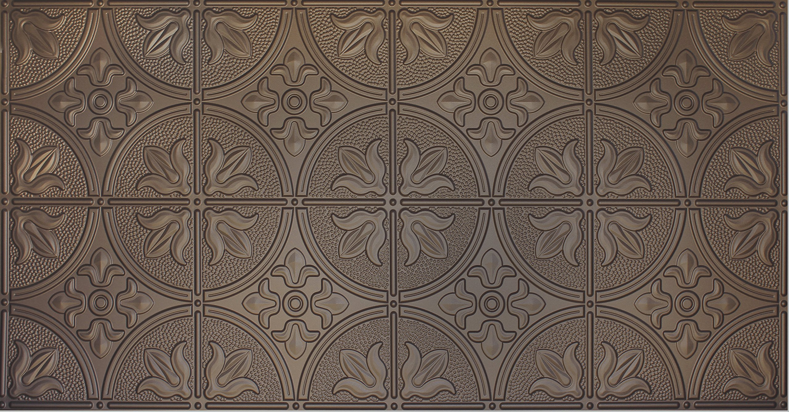 Global Specialty Products 309-03 Traditional Tin Style Panels For Glue-Up Installation, Metallic Bronze by Global Specialties