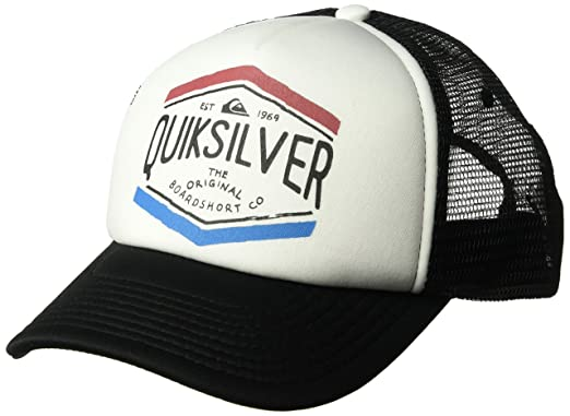 quality design 3d15b a2f21 Quiksilver Men s Crocked Out Trucker Hat, White, One Size