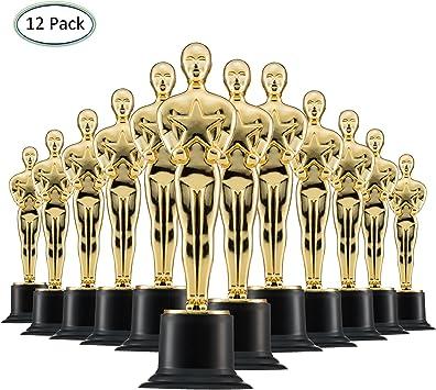 Trofeos de Oro de 15cm (Pack de 12) para Ceremonias y Fiestas: Amazon.es: Juguetes y juegos