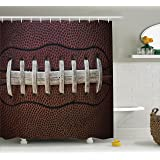 Ambesonne Sports Decor Collection, American Football Themed Fun Traditional  Sport Close Up Photo Pattern,
