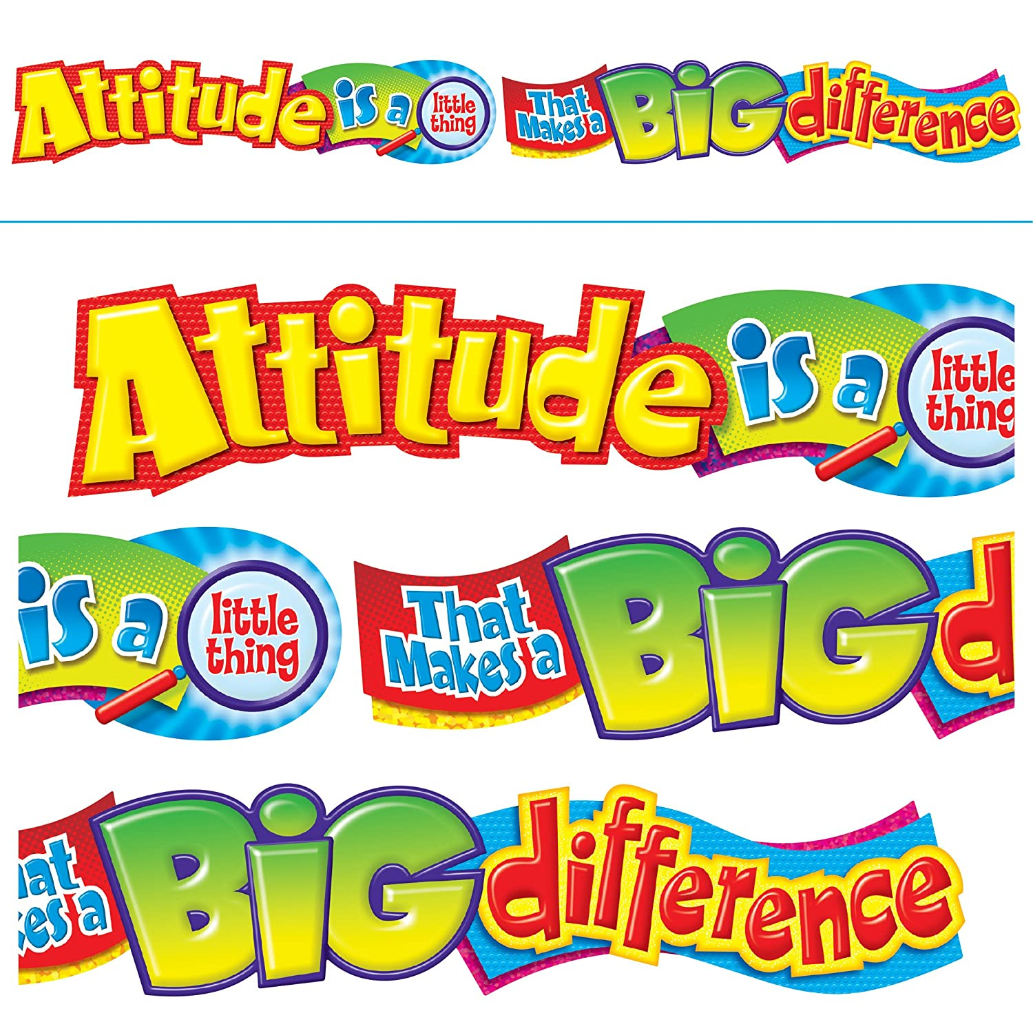 TREND enterprises, Inc. T-25044 Attitude is a little thing Quotable Expressions Banner, 10' 10'