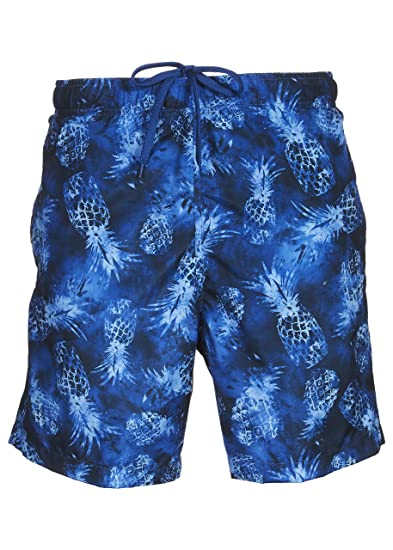 3dcb673cb911 LAGUNA Mens Relaxed Fit Pina Colada Board Shorts Swim Trunks Blue Combo S