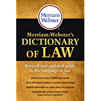 Image for Merriam-Webster's Dictionary of Law, Newest Edition, Trade Paperback