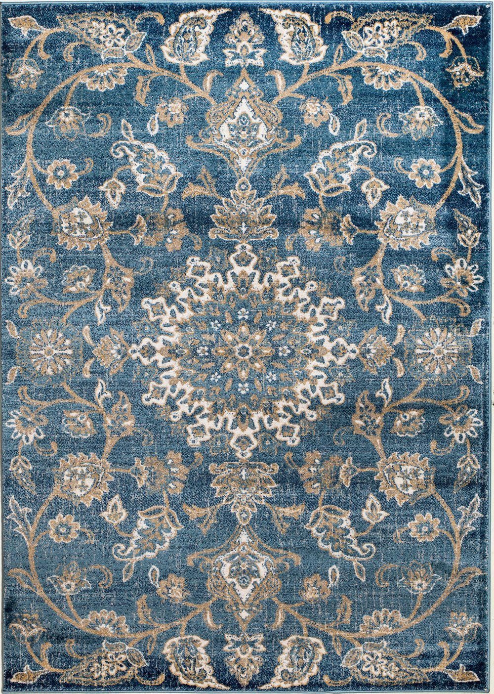 MADISON COLLECTION 405 Vintage Distressed Oriental Persian Blue Area Rug Clearance Soft and Durable Pile. Size Option , 7 .4 x 10 .6
