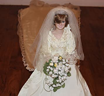 Amazon.com: The Princess Diana Porcelain Bride Doll By the Danbury ...
