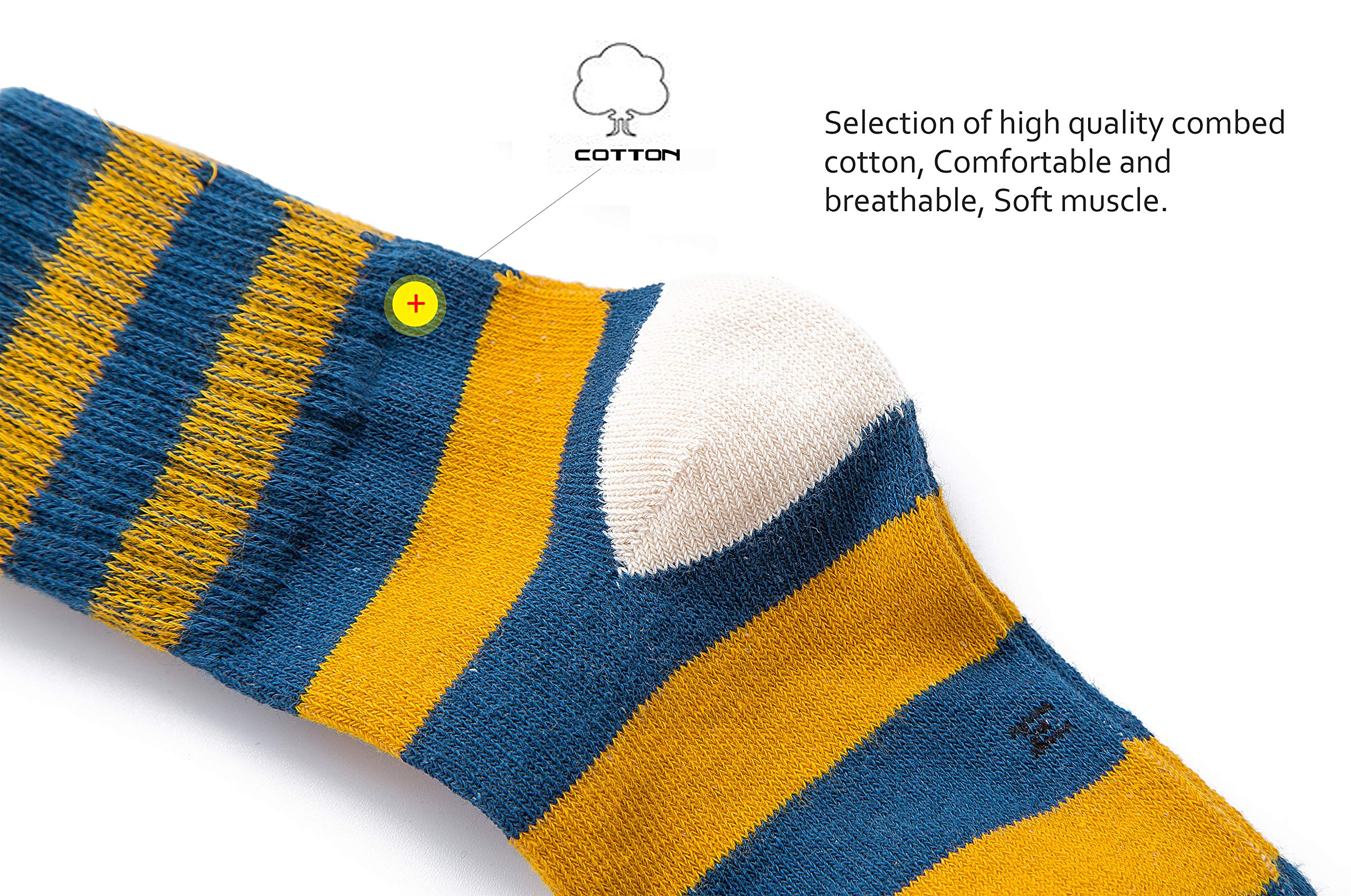 Maplewel Girls Socks Kids Colorful Cotton Crew Seamless Socks 5 Pairs (5 year - 7 year)