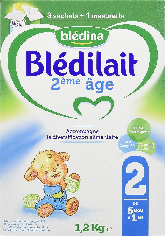 Blédina Blédilait - Lait bébé 2ème âge en poudre de 6 à 12 mois 1, 2 kg - Pack de 3 BLEDINA 3041091001351
