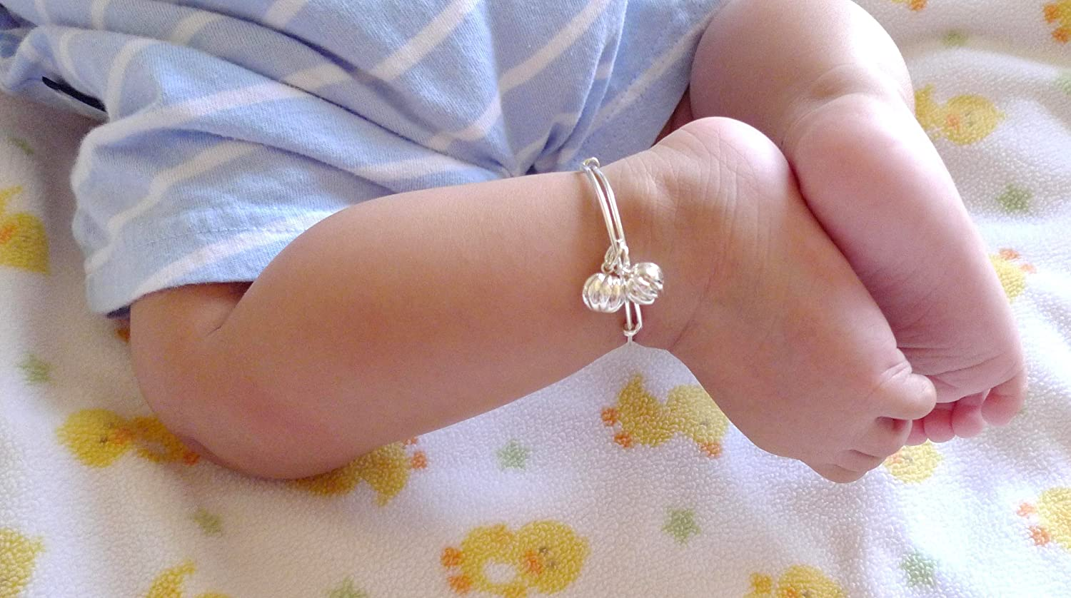 Amazon.com: New 925 Sterling Silver Baby/ Infant Anklet-Baby ...