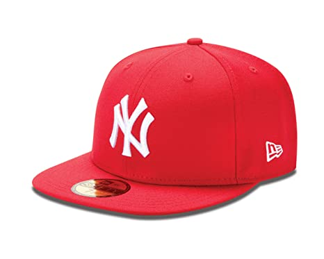 16724a7c37c MLB New York Yankees Scarlet with White 59Fifty Baseball Cap