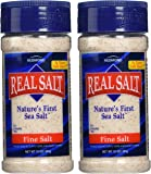 Redmond Real Salt, Nature's First Sea Salt, Fine Salt, 10 Ounce Shaker (2 Pack)