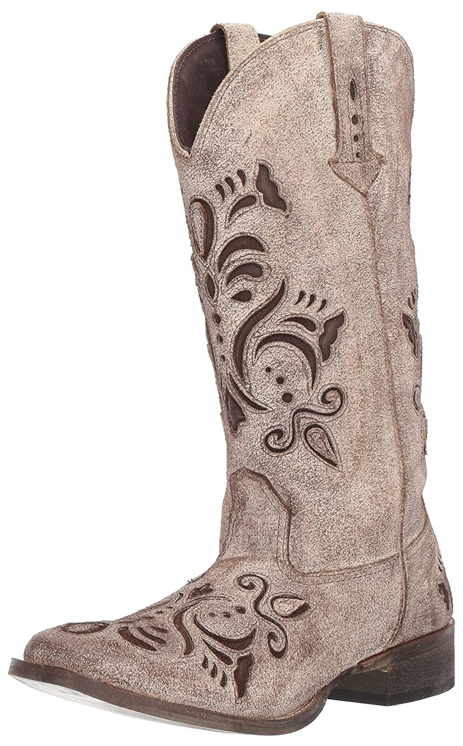 Roper Women's Belle Western Boot B06WWRNHB3 9 B(M) US|Tan
