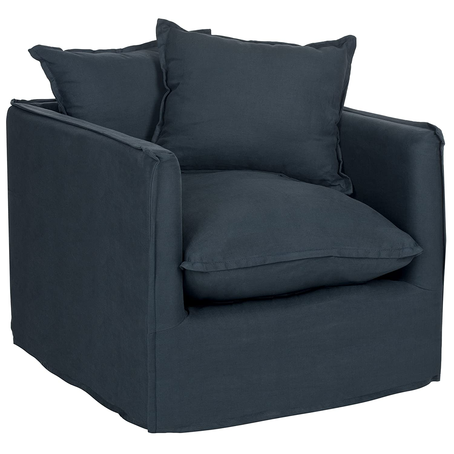 Elegant Amazon.com: Safavieh Mercer Collection Joey Arm Chair, Blue: Kitchen U0026  Dining