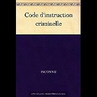 Code d'instruction criminelle