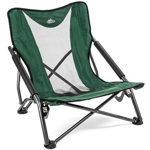 Amazon.com: Cascade Mountain Tech - Silla de playa compacta ...