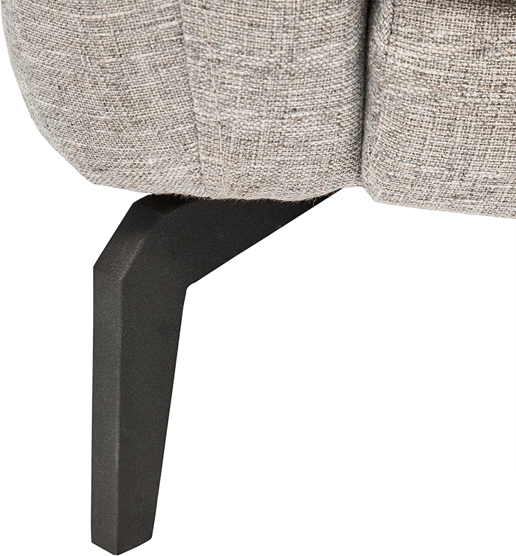 Amazon Brand – Rivet Kaden Mid-Century Modern Adjustable Headrest Loveseat Sofa, 61.8