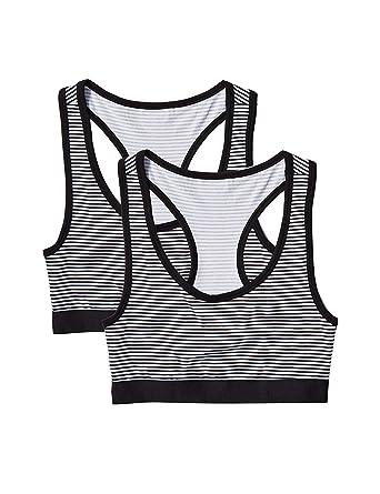 25e66c90f5c Amazon.com: Amazon Brand - Iris & Lilly Women's Cotton Bra with Racerback,  Pack of 2: Clothing