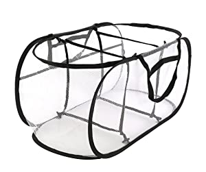 Knocbel Collapsible Mesh Laundry Hampers, 3 Compartment Pop-up Sorter Baskets with Durable Portable Handles