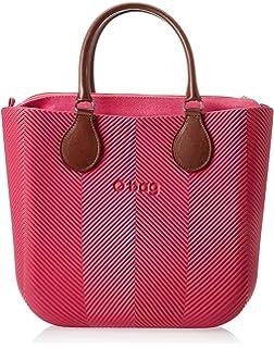 O bag B001_076, sac à main femmeMulticoloreMulticolore (Rosso), 14x31x39 cm (W x H x L) EU