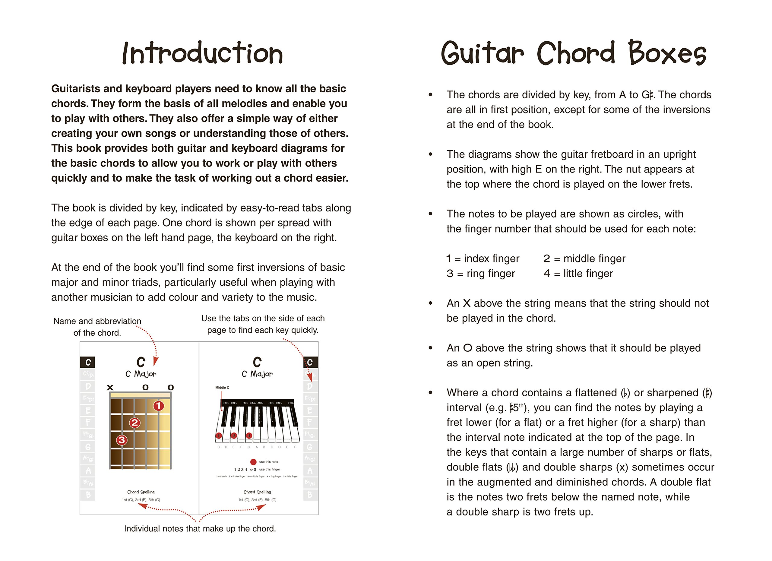 Chords For Kids Easy To Read Easy To Play For Guitar Keyboard