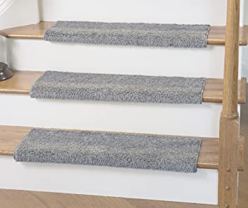 Caprice Bullnose Carpet Stair Tread With Adhesive Padding, By Tread Comfort  (Single 31u0026quot;