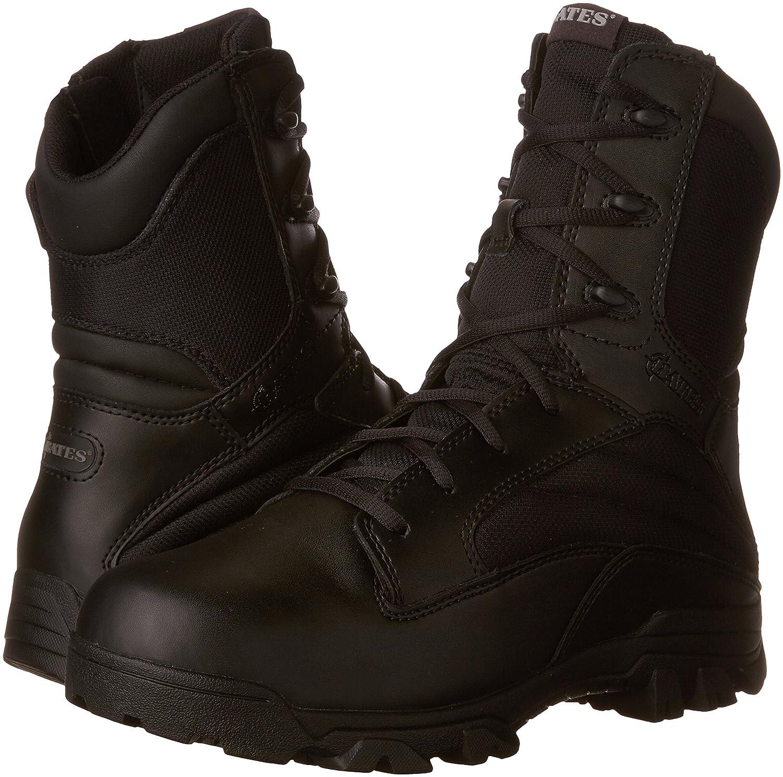 Bates Mens 8 Inch Leather Nylon Side-Zip Uniform Boot