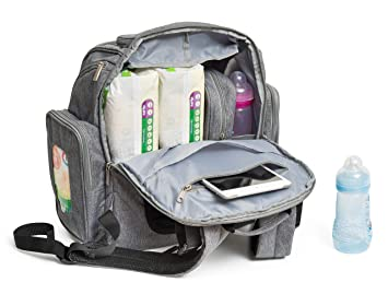 b49aa267b8ad Baby Diaper Bag Backpack with Changing Pad - Waterproof Maternity Bag  Organizer for Mom or Dad -...