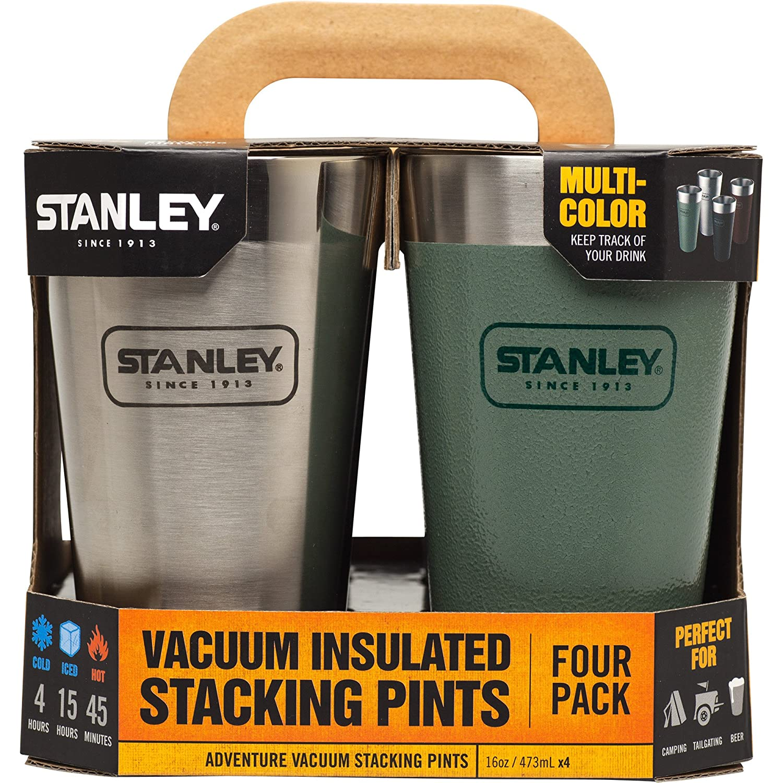 4 Pack Multi-Pack Pacific Market International 10-02796-001 16 OZ Stanley Adventure Stacking Vacuum Pint