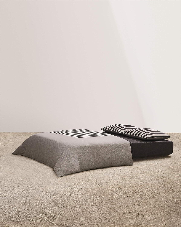 Calvin Klein Home Modern Cotton Tyson Duvet, King, Cream/Charcoal/Heather Grey