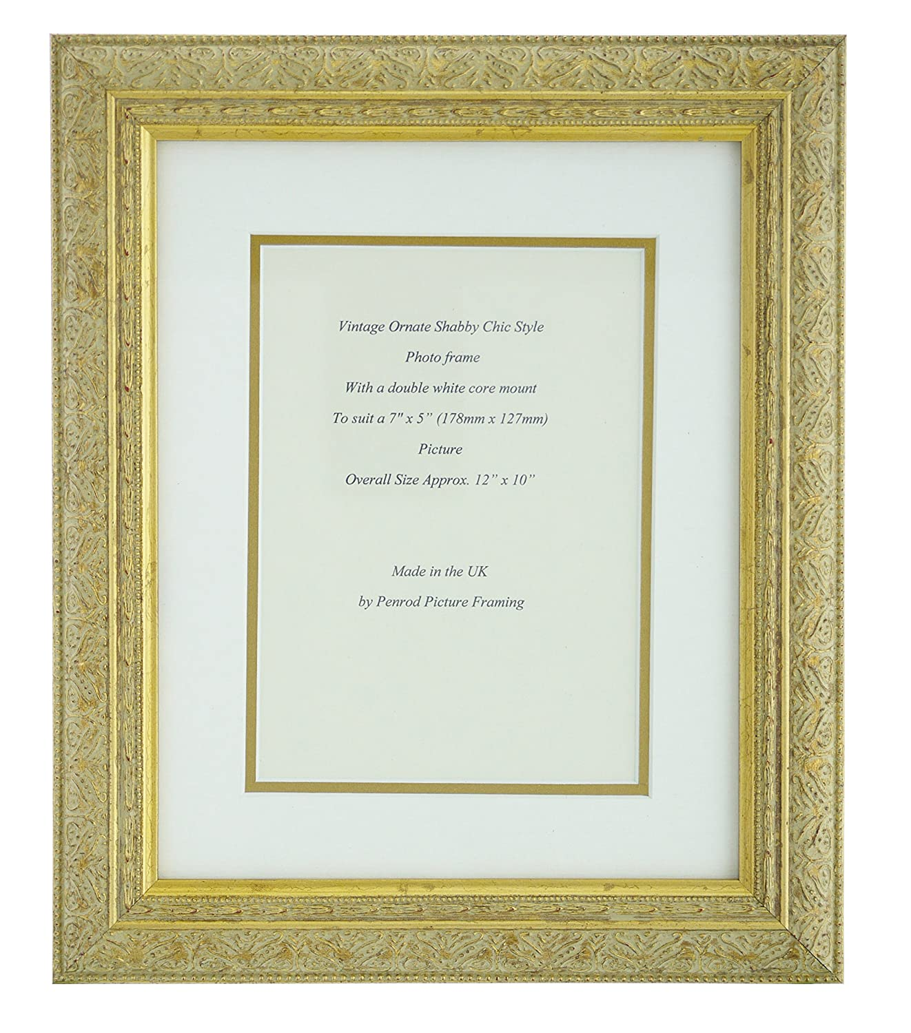 Antique Gold Shabby Chic Ornate Vintage Picture Frame 12\