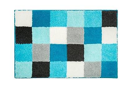 Tappeti Bagno Turchese : Casilin tappeto di bagno acrilico turchese cm amazon