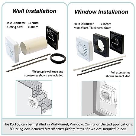 Xpelair DX100T Aérateur de salle de bains/WC: Amazon.fr: Bricolage