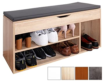 ricoo banc armoire meuble de rangement pour chaussure wm034 es a avec sige coussin