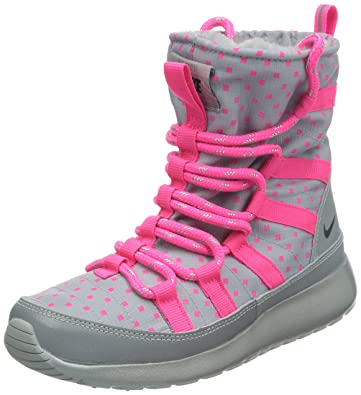 ffa2b39a195b Nike Girls  Grade School Roshe ONE HI SNEAKERBOOTS (4 Big Kid M) Grey