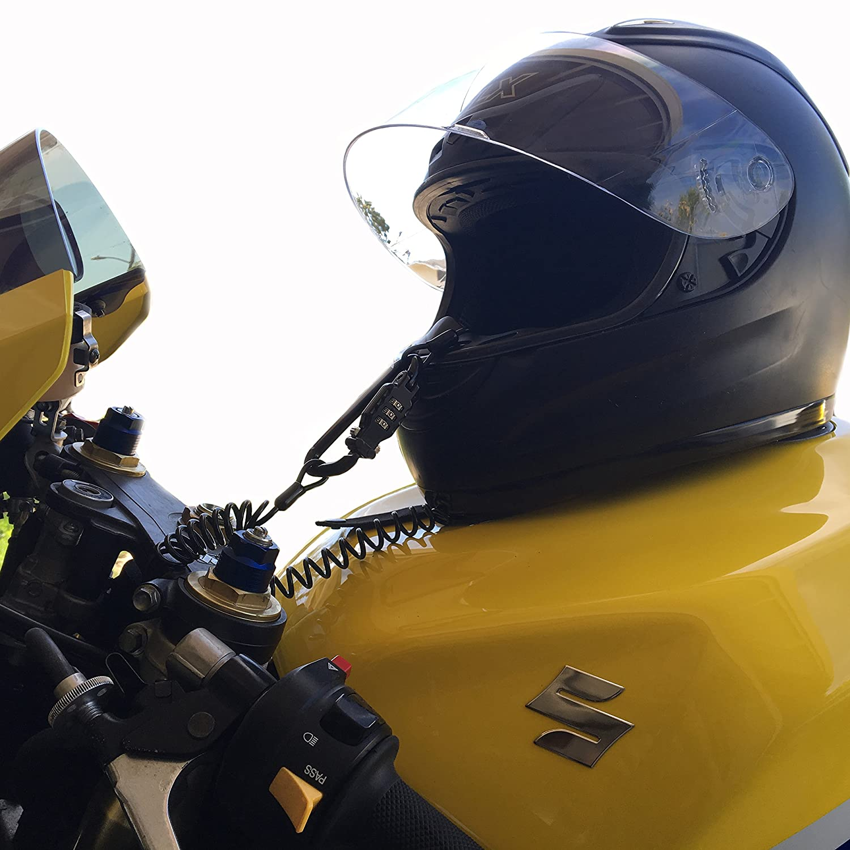 Mejor candado para casco de motocicleta de carreras 1 - 6 pies de ...