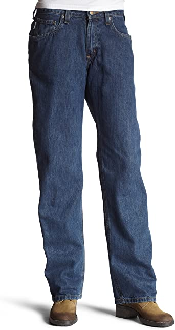 Carhartt Womens WB160 Relaxed Fit Jean Straight Leg Vintage Indigo